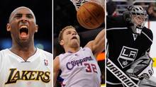 Kobe Bryant, Blake Griffin and Jonathan Quick