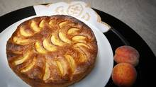 Peach torte by Lucy Waverman (Gloria Nieto/The Globe and Mail)
