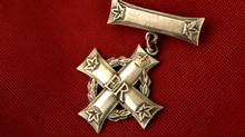 Image from the home of Susan Short whose husband Sgt. Rob Short, was killed in Afghanistan in 2003. This is Susan's Silver Cross, given to her following Rob's death. (Photo by Peter Power / The Globe and Mail) (Peter Power/The Globe and Mail)