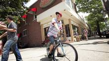 Ryan Semenuk finally got a job at a Lick's outlet through a job fair - even though he was competing with much older and more experienced students. (JENNIFER ROBERTS/Jennifer Roberts/for The Globe and Mail)