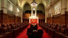 The Senate chamber in Ottawa. (Dave Chan For The Globe and Mail)