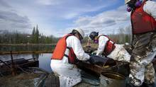 The Plains Midstream Canada spill leaked 28,000 barrels of oil in 2011. (Jimmy Jeong for the Globe and Mail)