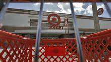 This file photo shows a shopping cart outside a Target store in Riverview, Fla. (Chris O'Meara/AP)