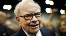 Berkshire Hathaway Chairman Warren Buffett attends his company's annual meeting in Omaha, Nebraska, in this April 30, 2011 file photo. (RICK WILKING/Reuters)