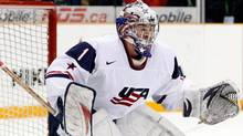 United States goaltender Jack Campbell will be among the key players to watch at this year's IIHF World Junior Hockey Championship.(Photo by Richard Wolowicz/Getty Images) (Richard Wolowicz/Getty Images)