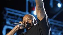 Dr. Dre performs at the 2012 Coachella Valley Music and Arts Festival in Indio, Calif., April 15, 2012. (David McNew/REUTERS)