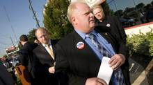 Mayoral candidate Rob Ford admitted that he was charged with failing to provide a breathalyzer test during a trip to Florida more than a decade ago at a press conference in Toronto, Ont. Aug.19, 2010. (Kevin Van Paassen/Kevin Van Paassen/The Globe and Mail)