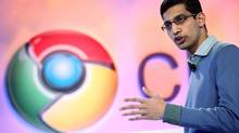 Sundar Pichai, vice president of product management for Google, speaks during the company's Chrome event in San Francisco December 7, 2010. (BECK DIEFENBACH/REUTERS)