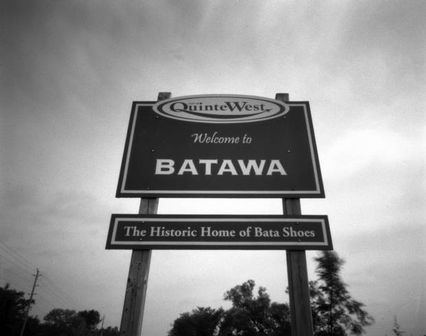 Just outside of town on Hwy 33 is the sign for the town of Batawa, located north of Trenton. The town, founded by Tomas Bata, is under redevelopment that will be complete this year.