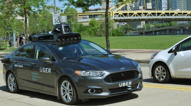 Uber self-driving Ford Fusion in Pittsburgh