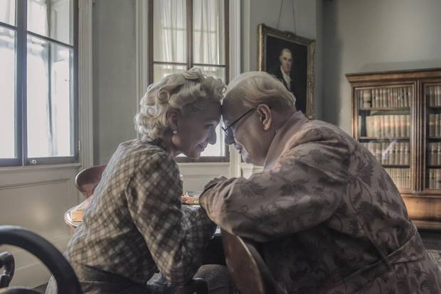 Kristin Scott Thomas and Gary Oldman star as Clementine and Winston Churchill in director Joe Wright's Darkest Hour.