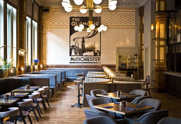 The Principal Manchester's glorious full-English buffet breakfast, with fresh juices, fruit and granolas is just $23.