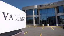 The head office and logo of Valeant Pharmaceutical are pictured in Montreal (Ryan Remiorz/THE CANADIAN PRESS)