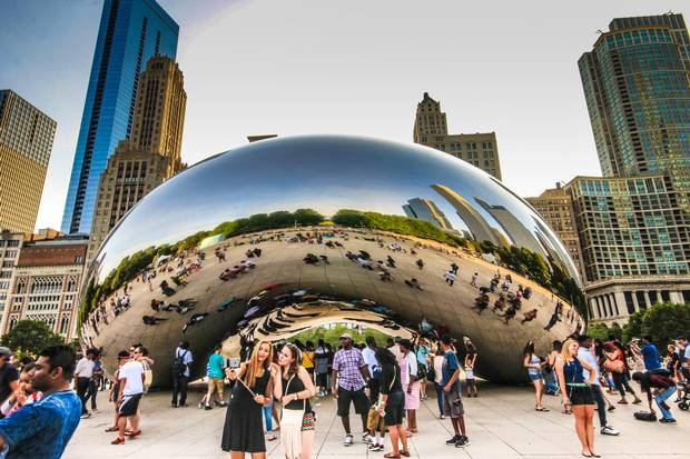 Chicago's Cloud Gate in Millennium Park.