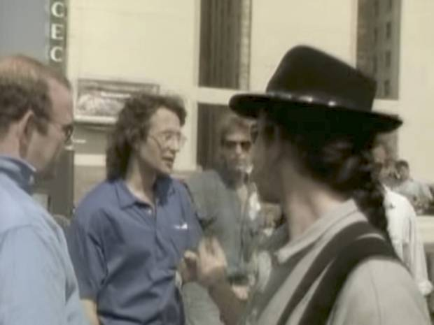 Director Meiert Avis appears in a shot of the music video for Where the Streets Have No Name.