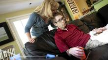 Cancer patient Darcy Doherty, along with his wife Rebecca Cumming, is photographed at his home in Toronto, Ont. Wednesday, May 30/2012. (Kevin Van Paassen/Kevin Van Paassen/The Globe and)