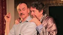 "Daniel MacIvor as the ""Assistant"" and Richard Donat as the ""Playwright"" in a scene from ""His Greatness"" (Seán Baker)"
