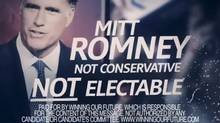 An attack ad against Mitt Romney by Newt Gingrich super PAC. (Screenshot/YouTube)