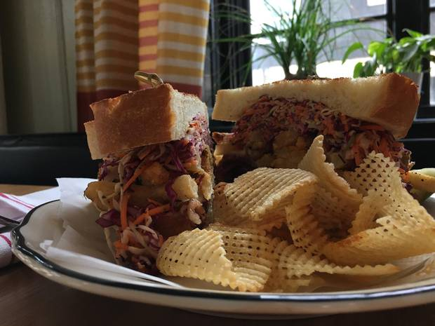 The new Ace Hotel offers a Pastrami sandwich loaded with french fries, coleslaw and aged provolone - an homage to a Pittsburgh classic.