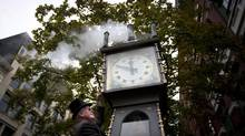 Vancouver's iconic Gastown steam clock. (John Lehmann/The Globe and Mail)