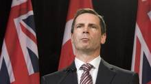 Ontario Premier Dalton McGuinty speaks during a news conference to react to the Auditor General's report on Ontario's electronic health records agency at the Ontario Legislature in Toronto on Wednesday October 7, 2009. (THE CANADIAN PRESS/Frank Gunn/THE CANADIAN PRESS/Frank Gunn)