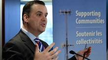 'We will not approve any spectrum transfer request that results in excessive spectrum concentration for Canada's largest wireless companies, which negatively affects competition in the telecommunications sector,' Industry Minister James Moore said. (Sean Kilpatrick/The Canadian Press)