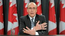 Interim auditor general John Wiersema holds a news conference following the release of an audit report in Ottawa on Tuesday, November 22, 2011. (Sean Kilpatrick/Sean Kilpatrick/THE CANADIAN PRESS)