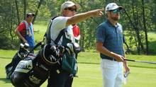 PGA Tour Canada golfer Mike Mezei with caddy Robert Thompson