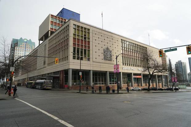 The Canada Post office downtown is a thriving film studio right now, but will be redeveloped. It has a helipad on the roof that film companies use for shoots.