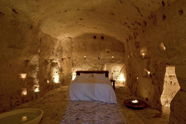 The Sextantio le Grotte della Civita transformed cave rooms into a luxe boutique hotel.