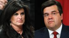 Labour Minister Rona Ambrose and Liberal MP Denis Coderre are shown in a photo combination.