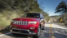 The Jeep Grand Cherokee compares favourably with its German competitors in the high-end SUV market. (Fiat Chrysler Automobiles)