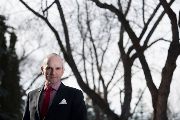 March 1, 2016: Liberal MP Randy Boissonnault, the Prime Minister's point person on an apology to LGBTQ Canadians, is shown in Edmonton.