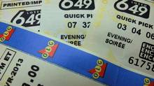 Lotto 649 tickets are shown in Toronto in a recent photo. The Ontario Lottery and Gaming Corp. says it will make more people millionaires each week starting this fall.The lottery agency is creating a new $1-million prize for Lotto 6/49 and guarantees there will be a winner at each draw. (Richard Plume/THE CANADIAN PRESS)