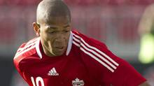 Simeon Jackson scored a hat trick in Canada's 7-0 World Cup qualifying win over St. Lucia on Friday. FILE: THE CANADIAN PRESS/Chris Young (Chris Young/CP)