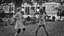 Greta Gerwig (Frances) and Mickey Sumner (Sophie) in Frances Ha.
