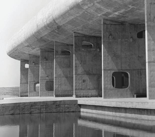 The Assembly Building in Chandigarh, India, by Le Corbusier.