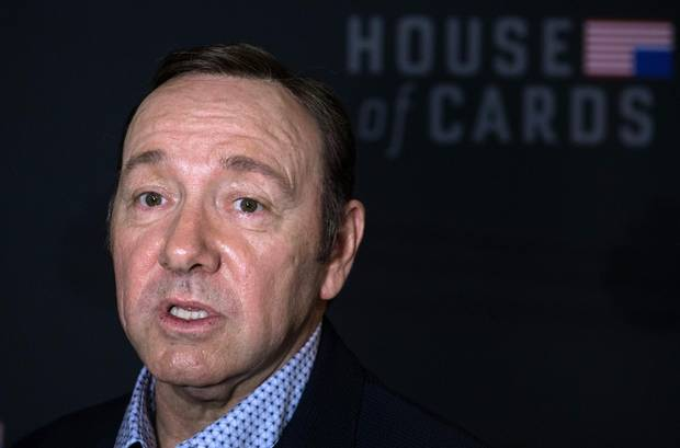 Feb. 23, 2016: Kevin Spacey arriving for the Season 4 premiere screening of House of Cards in Washington.