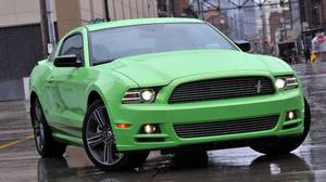 PORTLAND, OREGON-March 12, 2012-- The new 2013 Ford Mustang is launched in Portland, Oregon as media have the first opportunity to drive the new product.ÊThe 2013 Ford Mustang gets a new design for the 2013 model in the form of new front and rear fascias, a more prominent grille, standard high-intensity discharge (HID) headlamps, signature lighting and more technology. Photo by:Ê Sam VarnHagen/Ford Motor Co.
