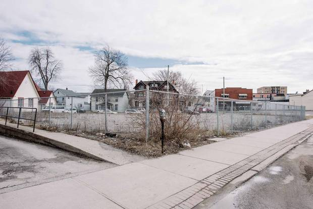 The site of a proposed student housing development in Kingston, Ont., from a syndicated mortgage lender that was forced into receivership last year.