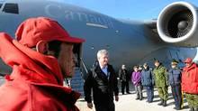 Prime Minister Stephen Harper arrives in Resolute Bay, Nunavut on Aug. 23, 2011. Mr. Harper is on a four-day tour of the north visiting Resolute Bay, Baker Lake, Whitehorse, Yellowknife, and Haines Junction. (Sean Kilpatrick/The Canadian Press/Sean Kilpatrick/The Canadian Press)