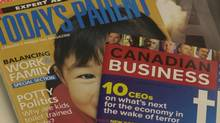 A selection of magazines owned by Rogers Media. (TIBOR KOLLEY/GLOBE AND MAIL)