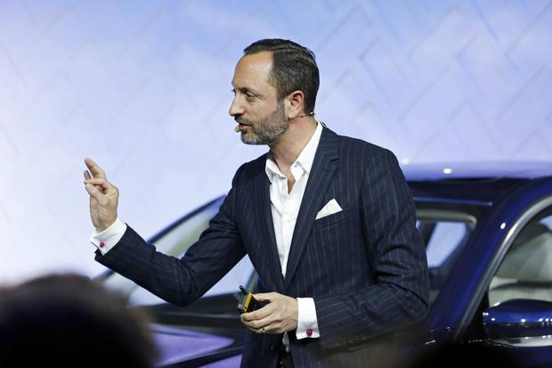 Karim Habib introducing the BMW Individual 7 Series in Munich in 2016.