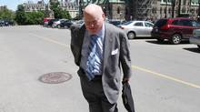 Senator Mike Duffy arrives on Parliament Hill on June 04, 2013 in Ottawa. Mr. Duffy eventually resigned from the Conservative caucus amid allegations that he made improper housing expense claims. (Dave Chan for The Globe and Mail)