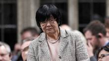 Canada's International Cooperation Minister Bev Oda speaks during Question Period in the House of Commons on Parliament Hill in Ottawa April 24, 2012. (Chris Wattie / Reuters/Chris Wattie / Reuters)