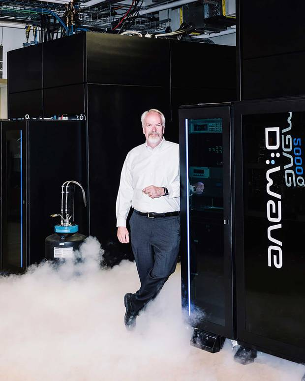 CEO Vern Brownell leans on D-Wave's quantum computer