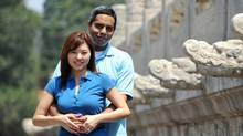 A Facebook photo of Muktesh Mukherjee, 42, and Xiaomo Bai, 37, the two Canadian citizens aboard vanished Flight MH370.