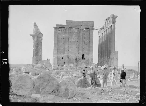 The temple of Bel in Palmyra, 1929.