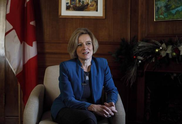 Alberta Premier Rachel Notley is pictured in Edmonton in December, 2017. Ms. Notley says 2018 will focus on Alberta's fragile but rebounding economy, specifically a road map to get back to budget balance in five years.