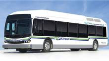 New Flyer presents BC Transit with the first fuel cell bus which they unveiled as their 1000th bus in the BC Transit fleet.